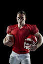 American football player looking at camera Royalty Free Stock Photo