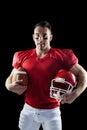 American football player looking at camera Royalty Free Stock Photo