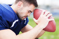 American football player portrait of Royalty Free Stock Photos