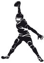 American football player, silhouette Royalty Free Stock Photo