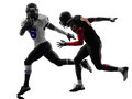 American football player silhouette Royalty Free Stock Photo