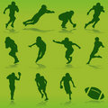 American football player vector Stock Photos
