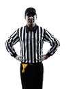 American football referee gestures offside silhouette Royalty Free Stock Photo