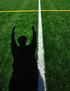 American Football Referee Signaling Touchdown Royalty Free Stock Photo
