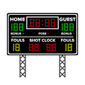 American Football Scoreboard. Time, Guest, Home. Electronic Wireless Scoreboard Timer. Vector Illustration Royalty Free Stock Photo