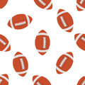American football Seamless pattern. Vector Royalty Free Stock Photo