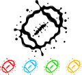 American football splat vector illustration of separate layers for easy editing Stock Photo