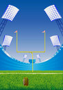 American football  stadium. Royalty Free Stock Image