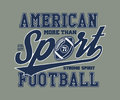 American Football Stylized vector illustration