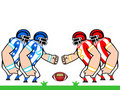American football teams Royalty Free Stock Photo