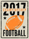 American football typographical vintage grunge style poster. Retro illustration.