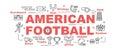 American football vector banner