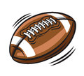 American football vector color on white background Stock Photos