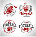 American football vintage vector labels for poster