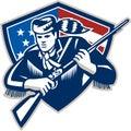American Frontiersman Patriot Stars Stripes Flag Royalty Free Stock Photo
