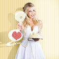 American Girl In Pinup Fashion With Retro Phone Royalty Free Stock Photo
