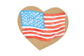 American Heart Flag Royalty Free Stock Photo