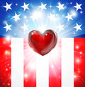 American Heart Patriotic Background Royalty Free Stock Photography