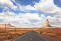 The American Highway in Monument Valley Royalty Free Stock Photo