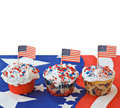 American Holiday Cupcakes Royalty Free Stock Images