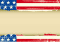 American horizontal dirty frame an vintage flag with a texture and a large empty for your message Royalty Free Stock Images