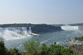 American and Horseshoe Fall Niagara Falls Ontario Canada Royalty Free Stock Photo
