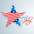 American independence day background or concept th of july with star in national flag colors Stock Photography