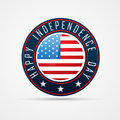 American independence day badge vector th of july Royalty Free Stock Photo
