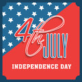 American Independence Day celebration greeting card. Royalty Free Stock Photo