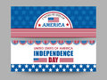 American Independence Day celebration web header or banner set. Royalty Free Stock Photo