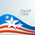 American independence day concept flag waving background with stars and text fourth of july Royalty Free Stock Image