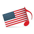 American independence day design background Stock Image