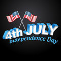 American independence day design stylish text Stock Photography
