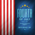 American Independence Day flyer or banner. Royalty Free Stock Photo