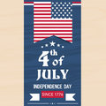 American Independence Day flyer or template. Royalty Free Stock Photo