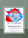American Independence Day invitation card. Royalty Free Stock Photo
