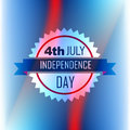 American independence day label on blue background Royalty Free Stock Photography