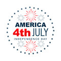 American independence day label design Royalty Free Stock Photos