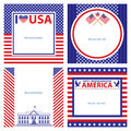 American Independence day template card sets. Royalty Free Stock Photo