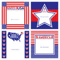 American independence day template card sets this is cards design file Royalty Free Stock Photo