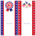 American independence day template card sets this is cards design file Stock Photography