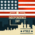 American Independence Day. The 4th of July. A banner with the Am