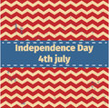American Independence Day 4 th july. Greeting card design. Ribbon Banner.Vector illustration. Patriotic symbol holiday poster. Hap