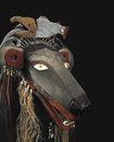 American indian bear mask isolated native representing a from the yurok tribes of oregon on black Stock Photography