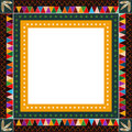 American indian border native motif design Royalty Free Stock Photos