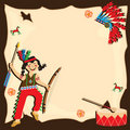 American Indian party invitation Stock Images