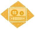 American Indian sun symbol Stock Photo