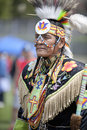 American Indian at UCLA Pow Wow Stock Photo