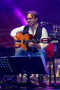 American jazz fusion and Latin jazz guitarist Al Di Meola performing live at Nisville Jazz Festival, August 11. 2016 Royalty Free Stock Photo