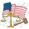 American justice vector Royalty Free Stock Photo